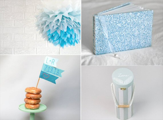 powder blue wedding decor ideas