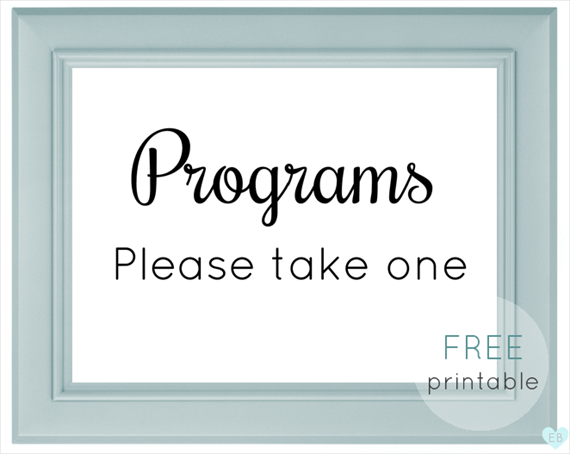 photo about Please Take One Sign Printable called Totally free Marriage Printables versus Emmaline Bride