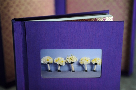 purple cover handmade wedding photo album