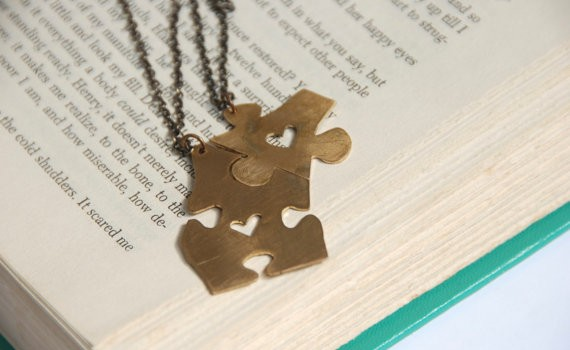 puzzle piece best friends necklaces