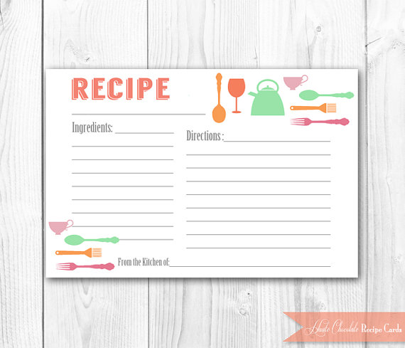 Kitchen Bridal Shower - recipe cards