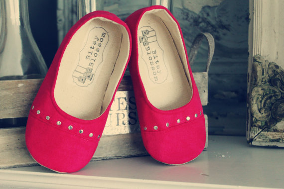 red rhinestone shoes for flower girls