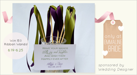 Ceremony Exit Ideas: Ribbon Wands (+ Giveaway!)