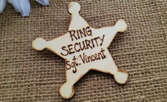 ring bearer badges - sargeant