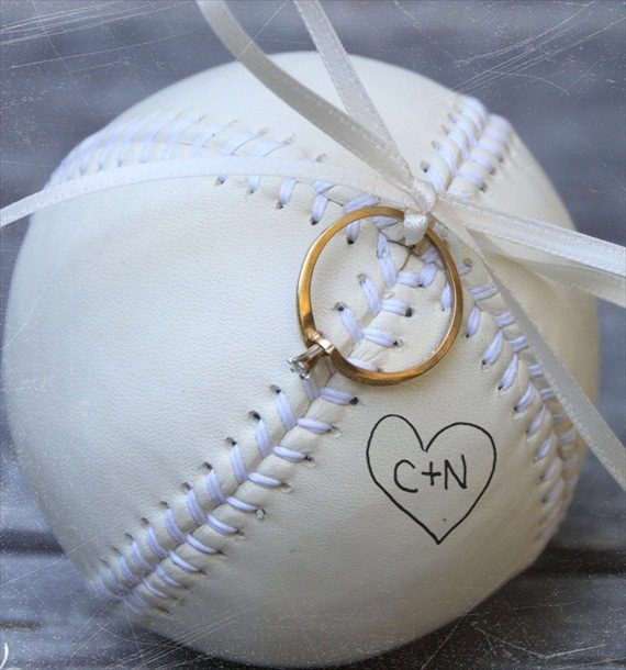 ring bearer baseball - ring bearer pillow ideas