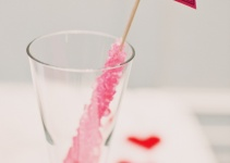 rock candy place card