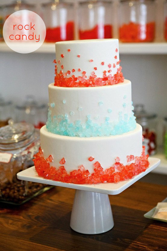 Rock Candy Wedding Cake