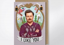 ron swanson valentines day card