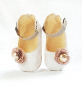 rose flower girl shoes
