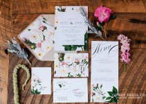 floral rose wedding invitations