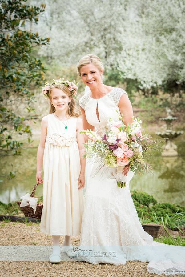 Cute cotton flower girl dresses in ivory | Olive & Fern | via http://emmalinebride.com/flower-girl/cotton-flower-girl-dresses-ivory/