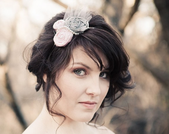 rosette wedding hair accessory