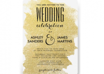 rounded wedding invitation gold