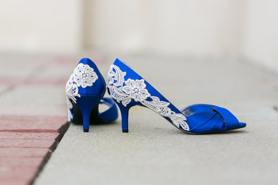 Wedding Shoe Tips - blue heels (by Walkin On Air)