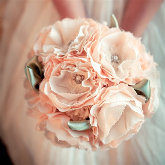 ruffled-fabric-flower-bouquet