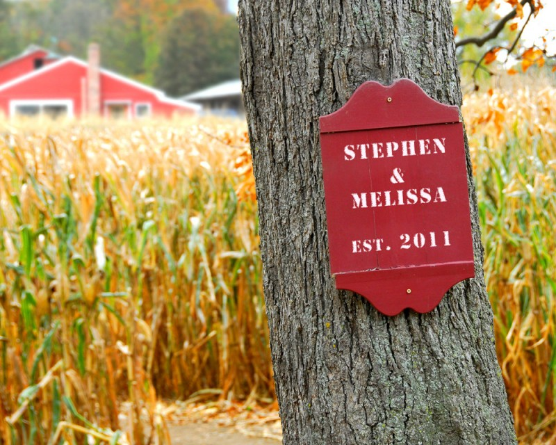 Personalized Print with Your Names on Rustic Farm Sign | by Picture It Personal | via https://emmalinebride.com/2015-giveaway/personalized-print-names/