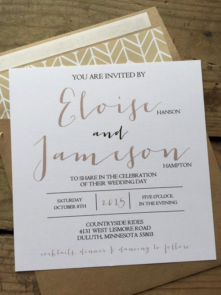 square wedding invitations | http://emmalinebride.com/rustic/square-wedding-invitations/