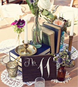 rustic table number from sweet nc collective