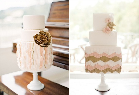 rustic wedding cake (cakes by My Sweet and Saucy; photos by Jen Huang)