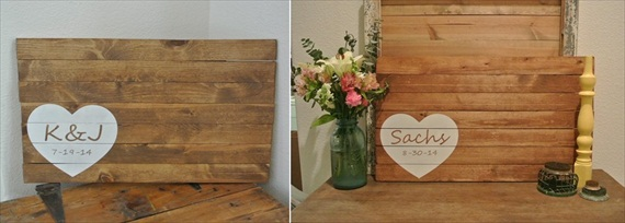 Rustic Wood Guest Book – Giveaway!