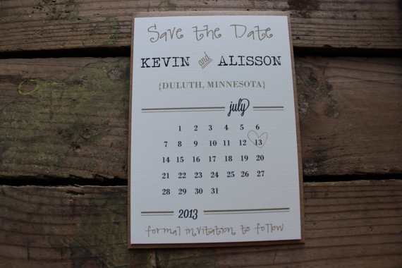 save the date calendar - 5 Creative Save the Date Ideas