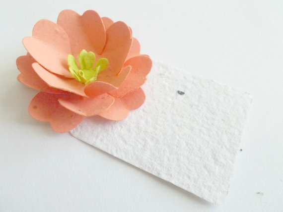 save the date plantable place cards