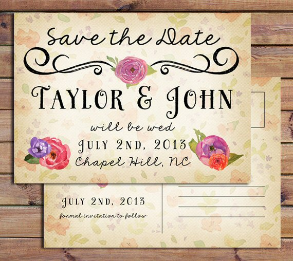 Themed Save the Dates (by Starboard Press)