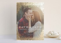 save the date with real foil