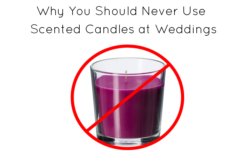Why You Should Never Use Scented Candles at Wedding Receptions | http://emmalinebride.com/planning/scented-candles-at-wedding/