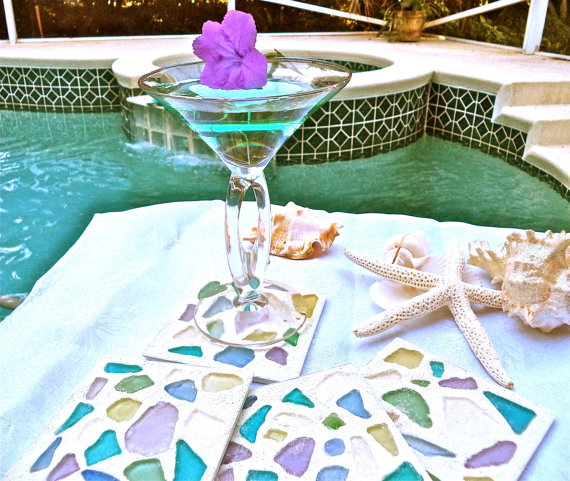 sea glass coasters