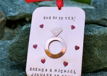 she said yes ornament by charmsoffaith
