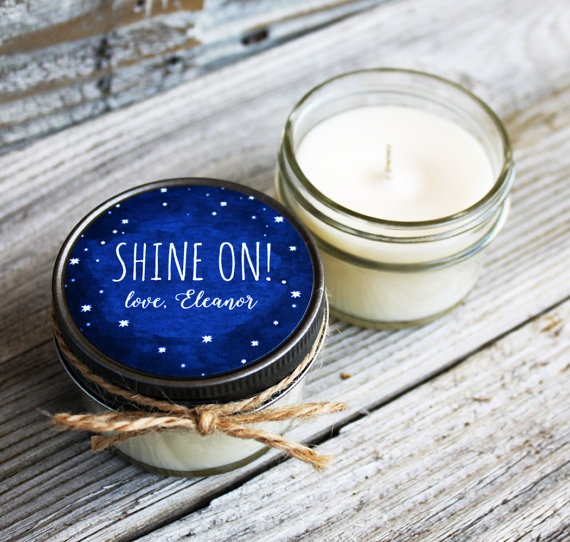 shine on starry night wedding candle favors by VerisCandlesandBath | via Starry Night Weddings http://emmalinebride.com/vintage/starry-night-weddings-ideas/