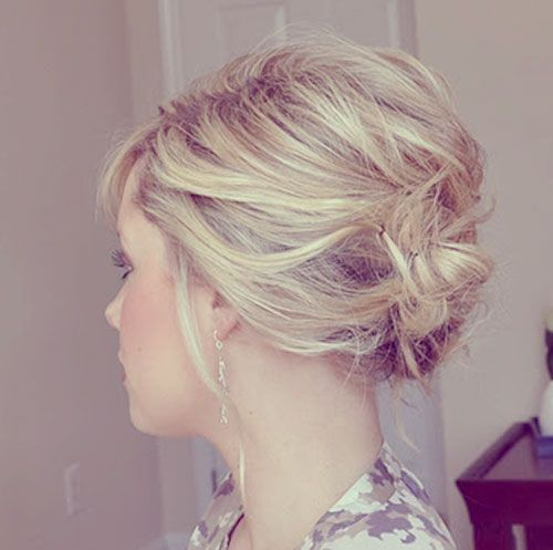 short pinned updo