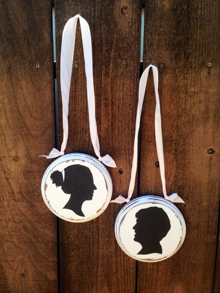 silhouette bride and groom chairs | via bride and groom chair signs http://emmalinebride.com/decor/bride-and-groom-chairs/