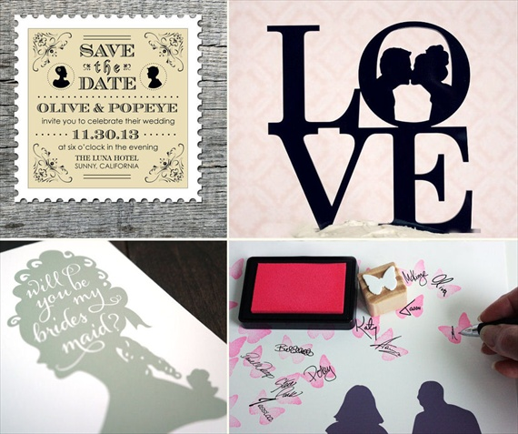 silhouette wedding ideas