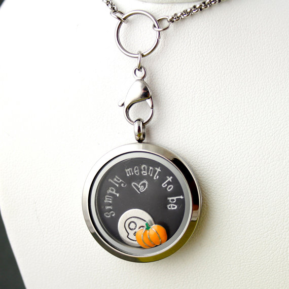simply meant to be - nightmare before christmas locket | Offbeat Wedding Theme:  Floating Lockets
