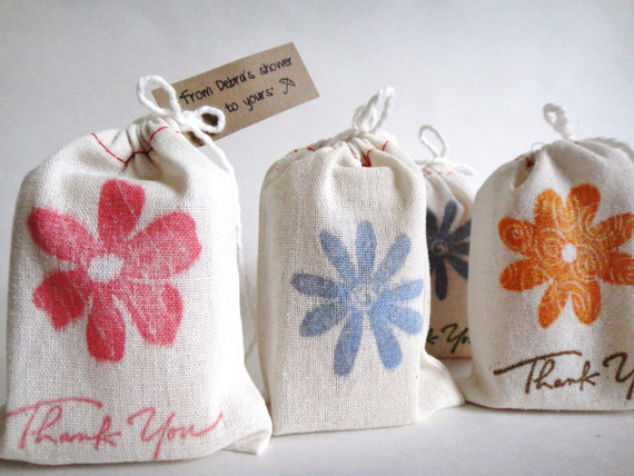 Ideas For Wedding Favor Bags : ... Favors: soap favors bridal shower muslin favor bags (by psj boutique