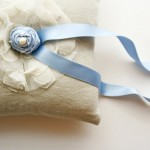 something blue ring pillow by Laura Stark