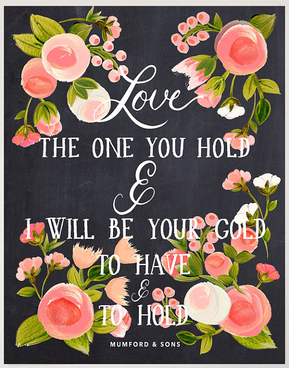 14 Chalkboard Wedding Ideas - song lyrics print (by the first snow)