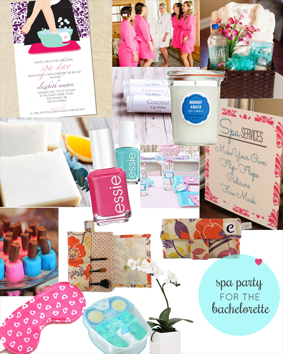 Bachelorette Spa Party Ideas via EmmalineBride.com
