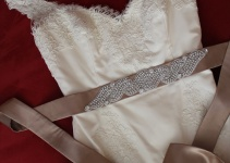 sparkly dress sash