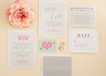 spring modern wedding invitations