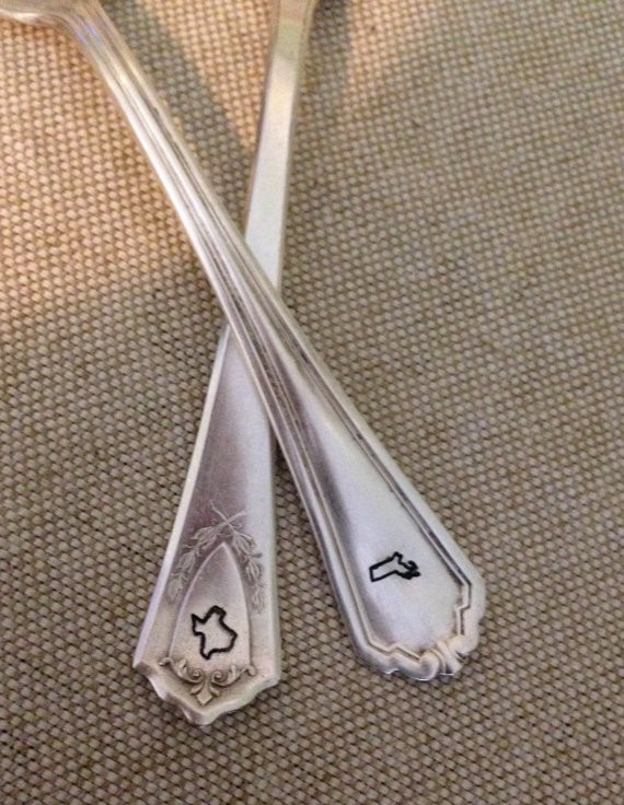 stamped forks with states stamped on the handle