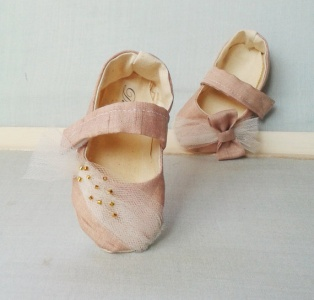 stardust flower girl shoes with tulle