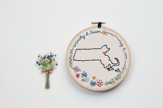 state love wedding hoop art