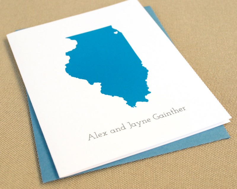 state themed thank you cards