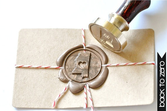 state wax seal via 25 State Ideas That Will Make Your Big Day More Awesome