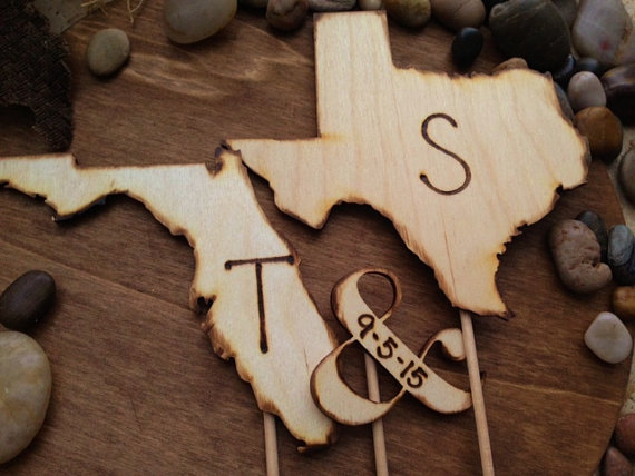 state wedding cake toppers by prince whitaker via 25 State Ideas That Will Make Your Big Day More Awesome