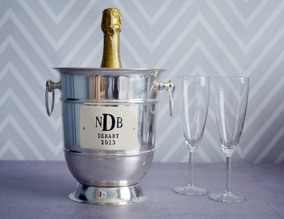 steel champagne bucket via 27 Amazing Anniversary Gifts by Year http://emmalinebride.com/gifts/anniversary-gifts-by-year/