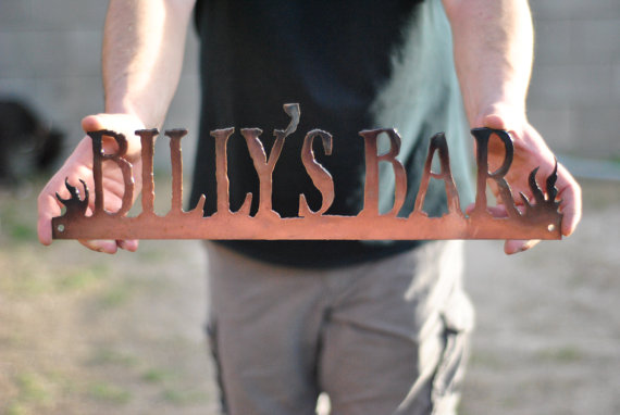 15 Awesome Groomsmen Gift Ideas (beer sign: grizzly custom steel)